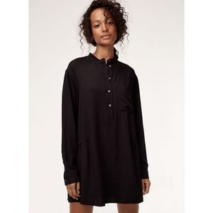Aritzia Wilfred Free Black Mini Shirt Dress XS